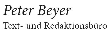 Peter Beyer - Beyertext - Werbetexter und Journalist